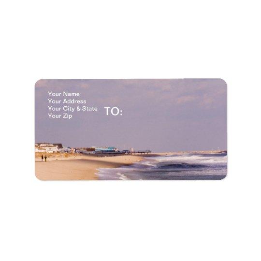 Beach Splendour Address Label