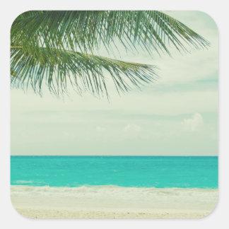 Beach Square Sticker
