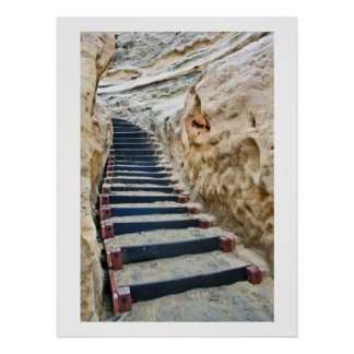 Beach Stairway Vertical Poster