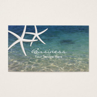 Beach & Starfish Beauty Salon Business Card