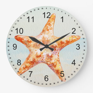 Beach Starfish Large Clock
