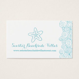 Beach starfish property letting business cards