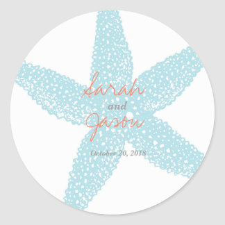 "Beach Starfish Sticker 3"" round"