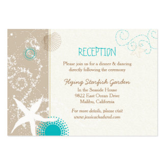 Beach Starfish Wedding Reception Enclosure Cards Pack Of Chubby Business Cards
