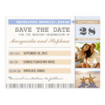 beach starfish & your photo save the date tickets
