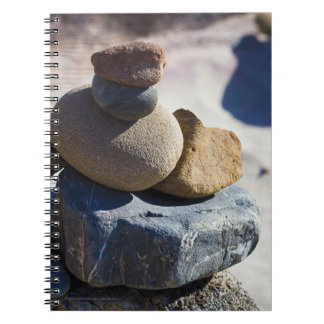 Beach Stones at Big Sur - Spiral Notebook