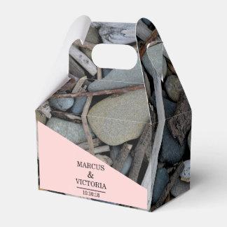 Beach Stones Driftwood Wedding Favour Box