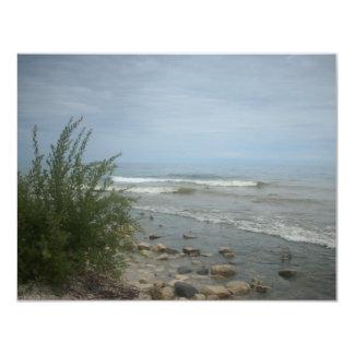 "Beach Storm Clouds 4.25"" X 5.5"" Invitation Card"