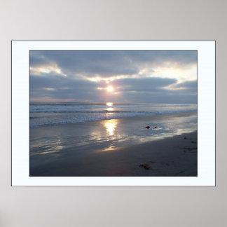 Beach Stormy Sunset Print