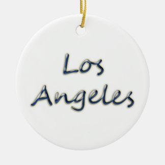 Beach Style Los Angeles - On White Christmas Ornament