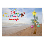 """""""BEACH STYLE"""" MERRY CHRISTMAS TO YOU GREETING CARD"""