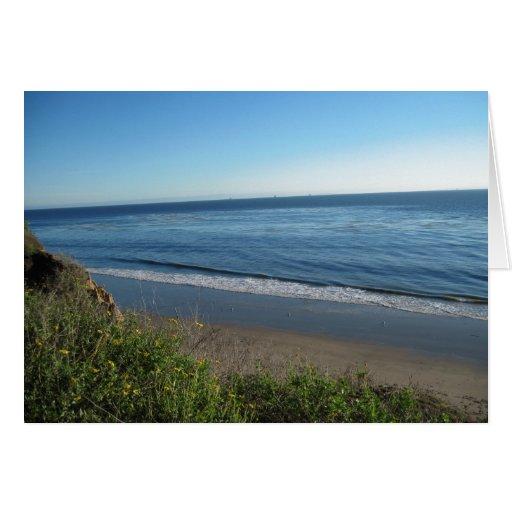 Beach, Summerland, California Greeting Cards