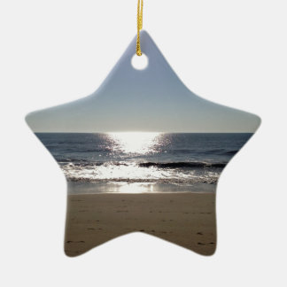 Beach sun christmas ornament