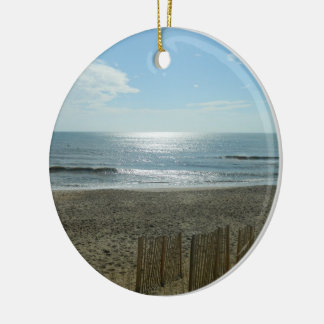 Beach Sun Rising Christmas Ornament