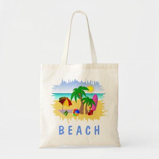 Beach Sun Sea and Surf Fun Budget Tote