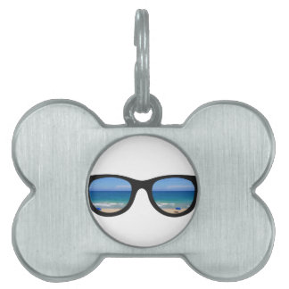 Beach Sunglasses Pet Tag