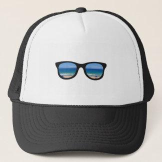 Beach Sunglasses Trucker Hat