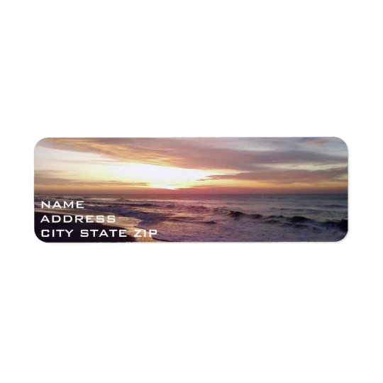 BEACH SUNRISE ADDRESS LABEL