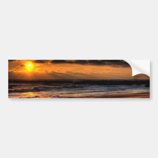 Beach Sunrise Bumper Sticker