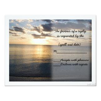 beach sunrise ii rsvp 11 cm x 14 cm invitation card