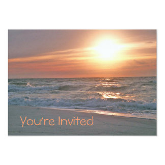 Beach Sunrise Invitation