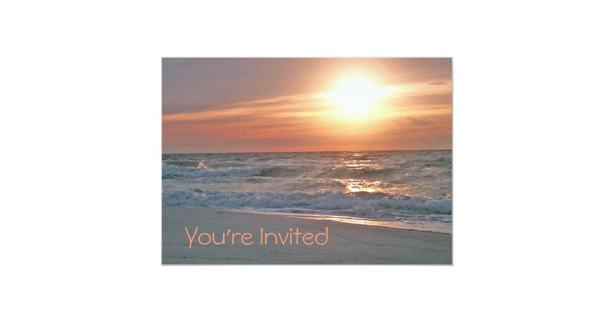 Sunrise Wedding Invitations: Beach Sunrise Invitation