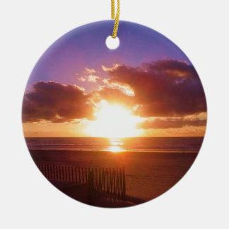 Beach sunrise ornament