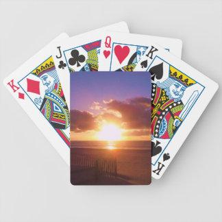 Beach sunrise playing cards
