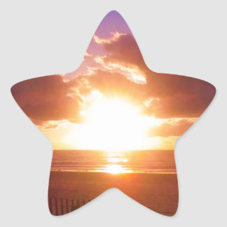 Beach sunrise stickers