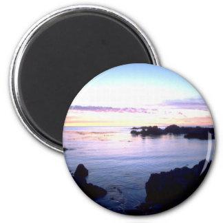Beach Sunset 6 Cm Round Magnet