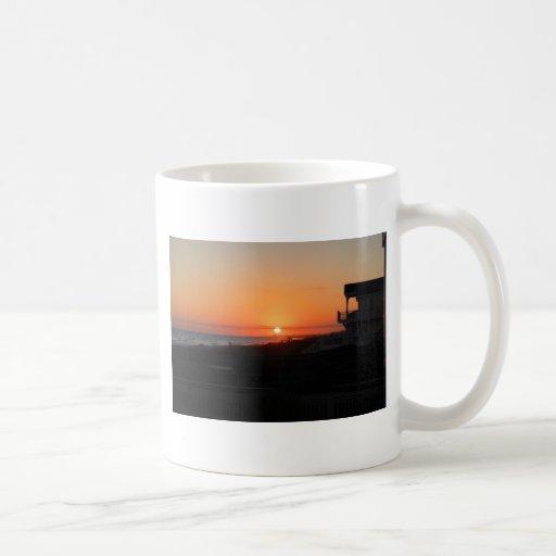 Beach Sunset at Holden Beach NC Coffee Mug