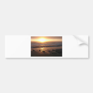 """Beach Sunset at Yachats, Oregon"" by Lewis Evans Bumper Sticker"