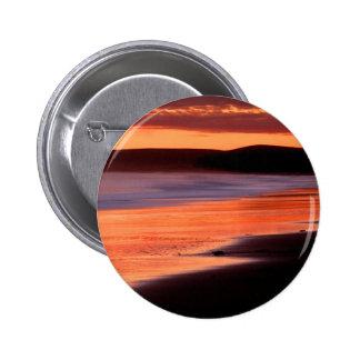 Beach Sunset Drakes Bay Marin Pinback Buttons
