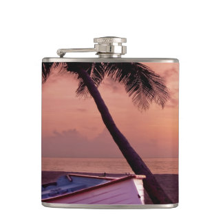 Beach Sunset Hip Flask