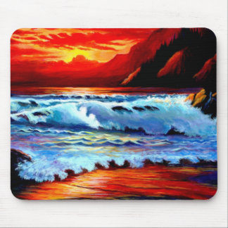 Beach Sunset Mouse Mat
