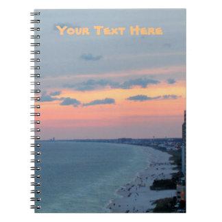 Beach Sunset Notebook