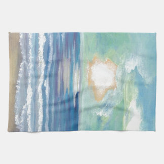 Beach Sunset Ocean Sea Surf Sun Gifts Tea Towel