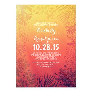 Beach Sunset Ocean Underwater Bridal Shower 13 Cm X 18 Cm Invitation Card