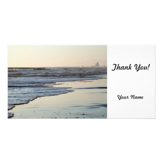 Beach Sunset Ormond Beach Personalized Photo Card