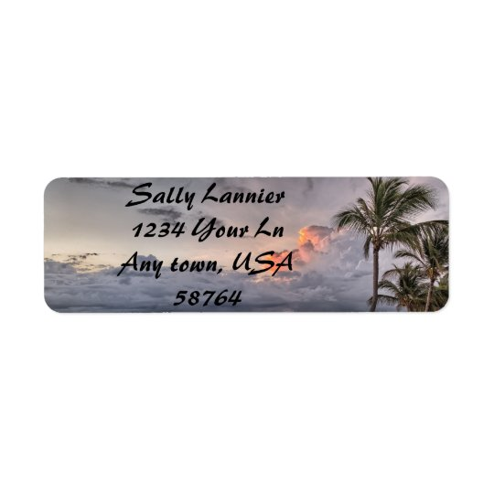 Beach Sunset Print Return Address Label