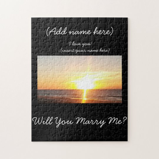 Beach Sunset Proposal Puzzle