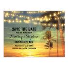 beach sunset save the date postcards