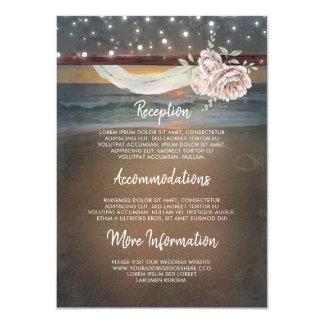 Beach Sunset Scenery Wedding Information Guest Card