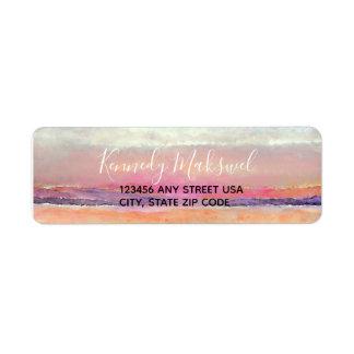 Beach Sunset Theme Return Address Label