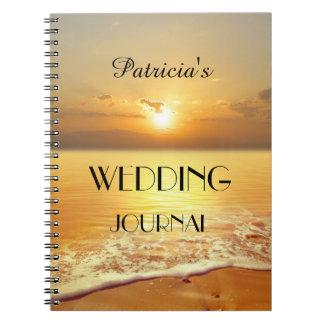 Beach Sunset Wedding or Travel Journal