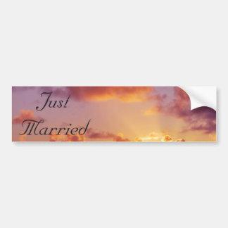 Beach Sunset Wedding Special Bumper Sticker
