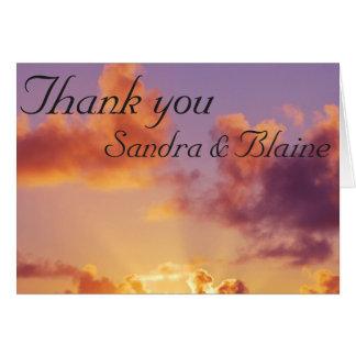 Beach Sunset Wedding Special Card