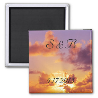 Beach Sunset Wedding Special Magnet