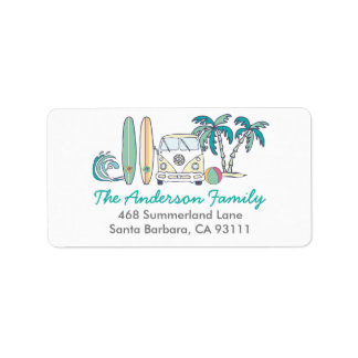 Beach / Surf Address Label