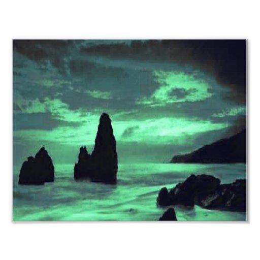 Beach, Surf and Stone Photographic Print